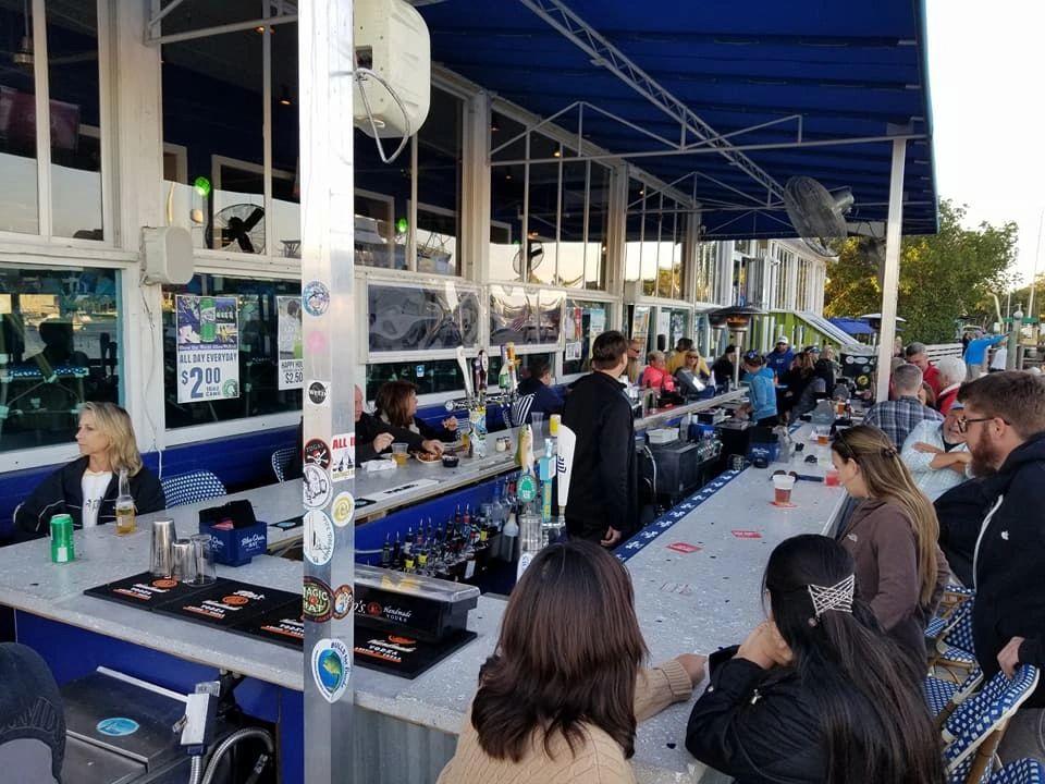 Atlantian Outdoor Bar Table In Twisted Tuna